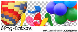 Balloons PNG - set 13