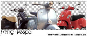 Vespa Passion PNG - set 14