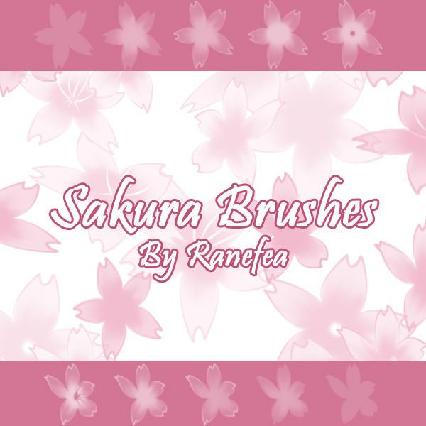 Sakura Brushes by Ranefea