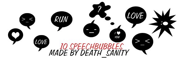 speechbubbles by ellesanity