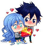 : Pixel Valentine's Gift! : BNHA OC Chibi Comm : by bakawomans
