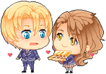 : PixelComm Takumi x Calista:Food Wars! OC Chibi :