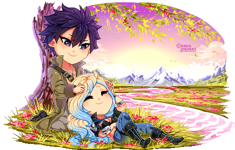 : PixelComm Syrena x Gray : Fairy Tail OC Chibi :