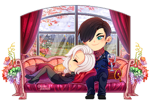 : PixelComm Rosaria x Stefano: TheEvilWithin OC : by bakawomans