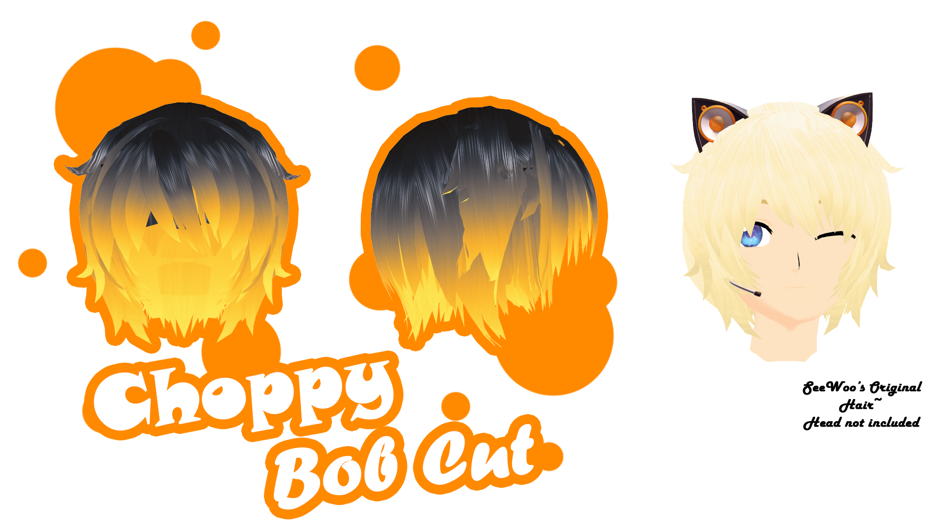 Mmd Parts Hair Choppy Bob Cut Dl By Colorsoforion