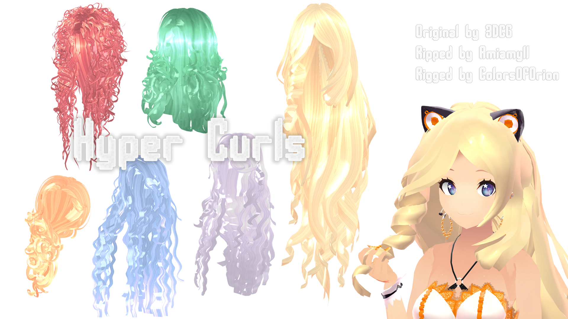 Mmd Parts Hair Hyper Curls By Colorsoforion On Deviantart