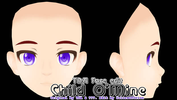 [MMD Parts] - Face - Child O'Mine (+dl) by ColorsOfOrion