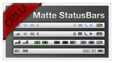 MatteStatusBars for iPhone