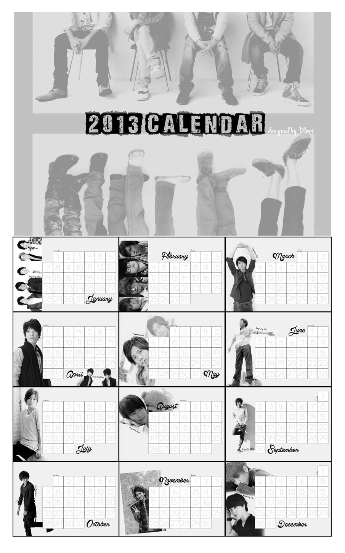 [Arashi/NEWS] 2013 Calendar