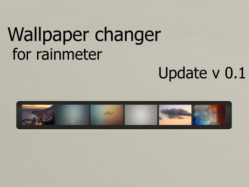 Wallpaper change for rainmeter by OGylf