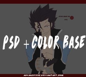 Gray Fullbuster Devil Slayer [PSD+COLOR BASE] by Advance996