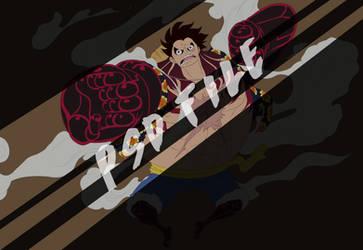 Luffy D.Monkey - FOURTH GEAR [PSD + COLOR BASE] by Advance996