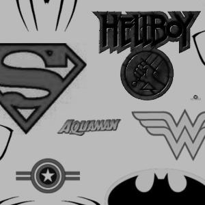 Superhero Logos by radroachmeat