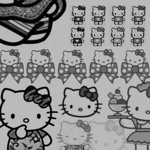 Hello Kitty Brushes by radroachmeat
