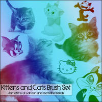 Kittens and Cats - Brush Set by radroachmeat