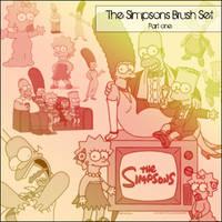 Simpsons 'Part 1' - Brush Set by radroachmeat
