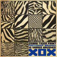 Zebra/Tiger Print Brush Pack [2013]
