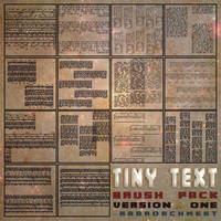 Tiny Text Brush Pack [Ver 1] [2015]