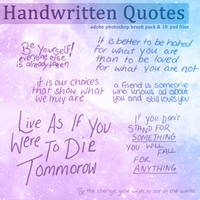 Handwritten Quotes Brush Set [2019]