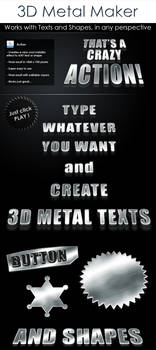Free 3D Metal text action