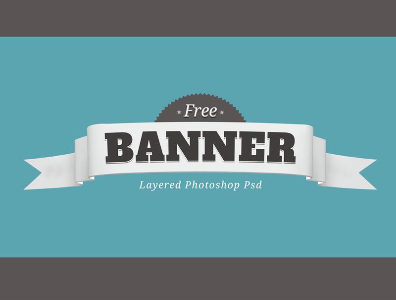 Free Layered PSD Banner-Badge