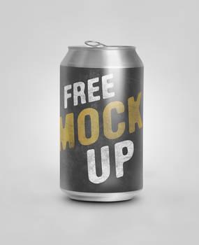 free Soda Can Psd mockup
