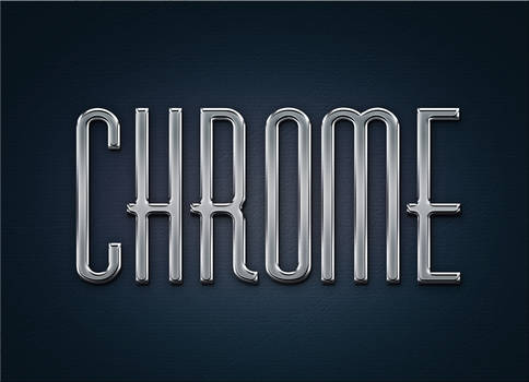 Free Metal Chrome Layer Styles and psd