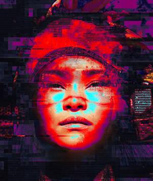 Photo Glitchy Template Photoshop Psd