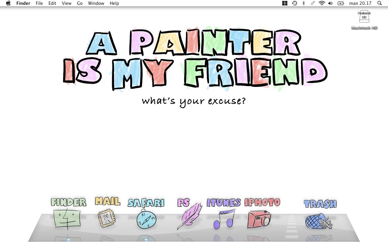 A painter is my friend by LineBirgitte