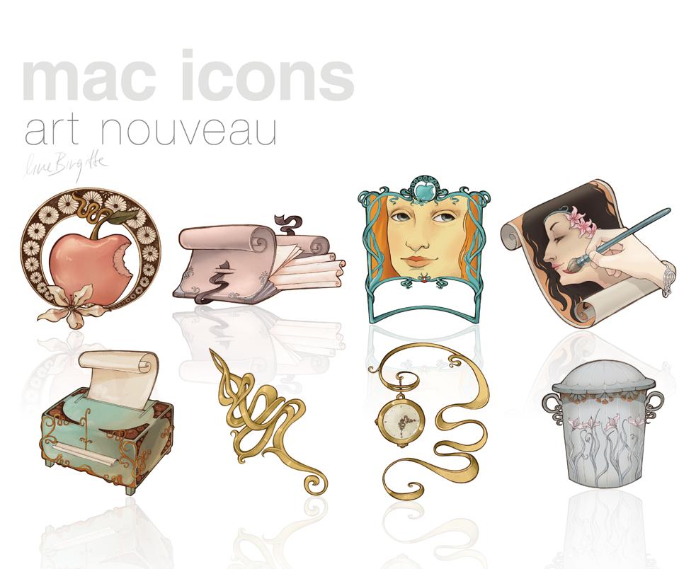 Art Nouveau Icons