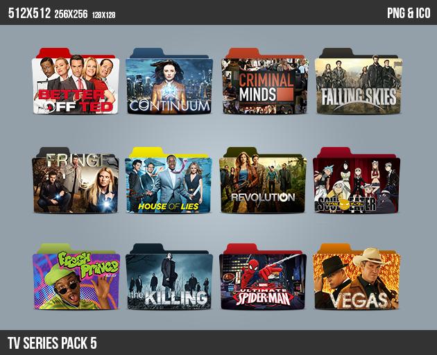 TV Series Folder ICON Pack 5 by kasbandi on DeviantArt