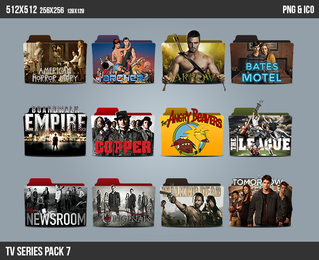 TV Series Folder ICON Pack 7
