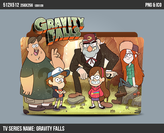 Gravity Falls Folder ICON by kasbandi