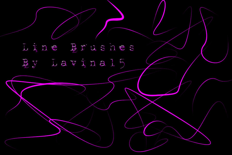 .:Line Brushes:. by LavinaStock