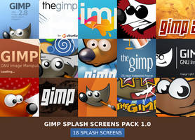 GIMP Splash Screens Pack 1.0 by slybug