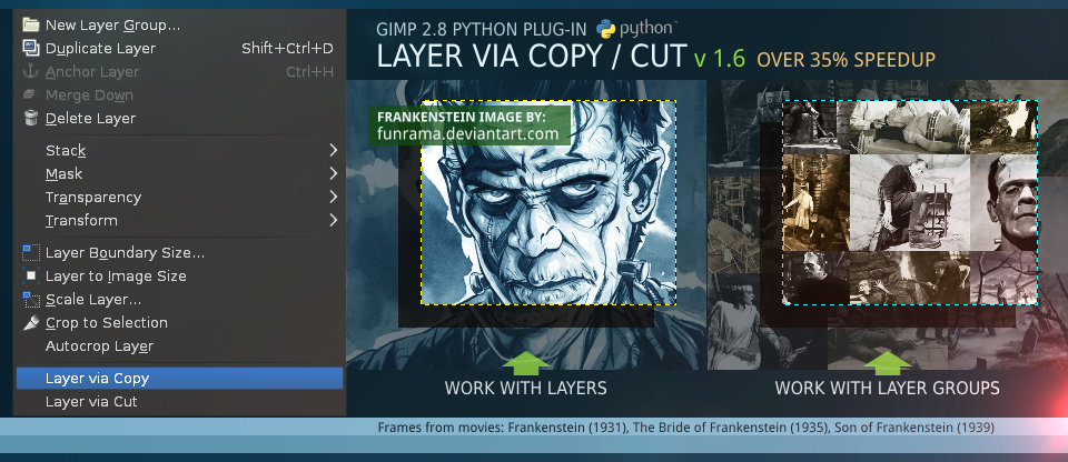 Layer via Copy/Cut