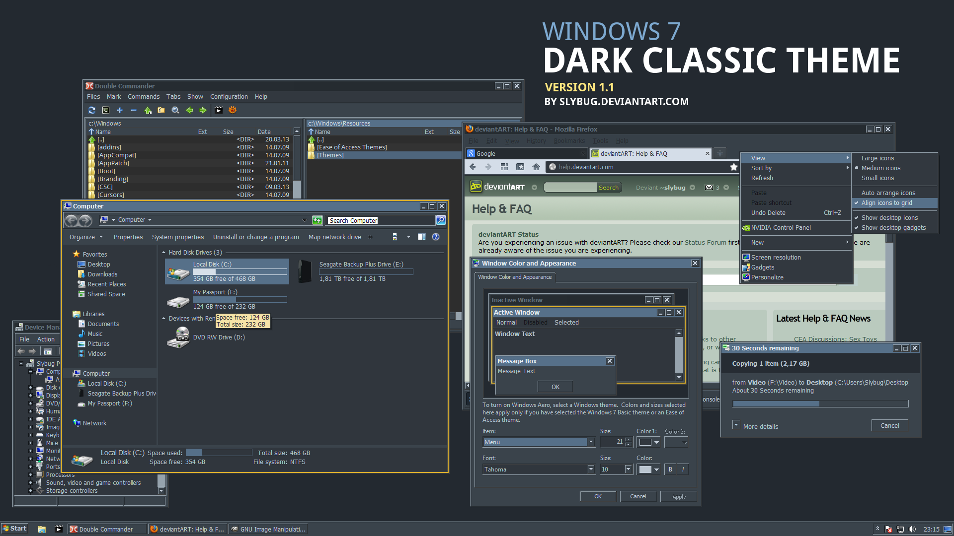Dark Classic Theme By Slybug On Deviantart