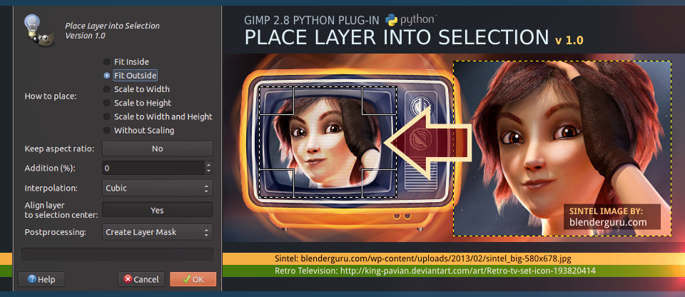 Place Layer into Selection