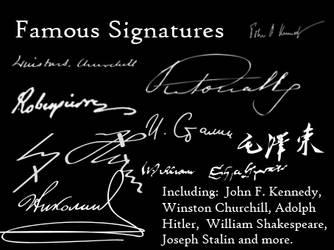 Famous Signatures brushes by eri-chan-eats-potato