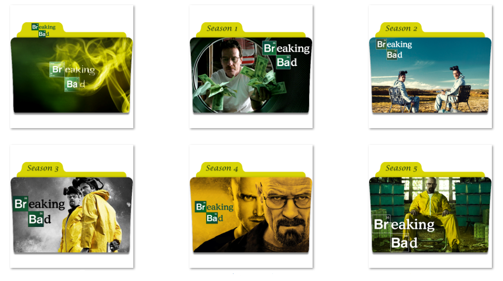 Where can i download the breaking bad seasons with english.