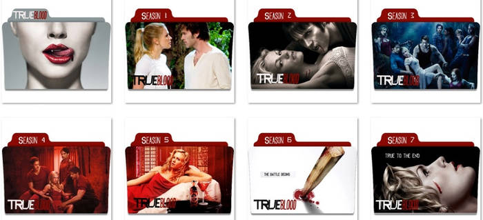 True Blood Folder Icons
