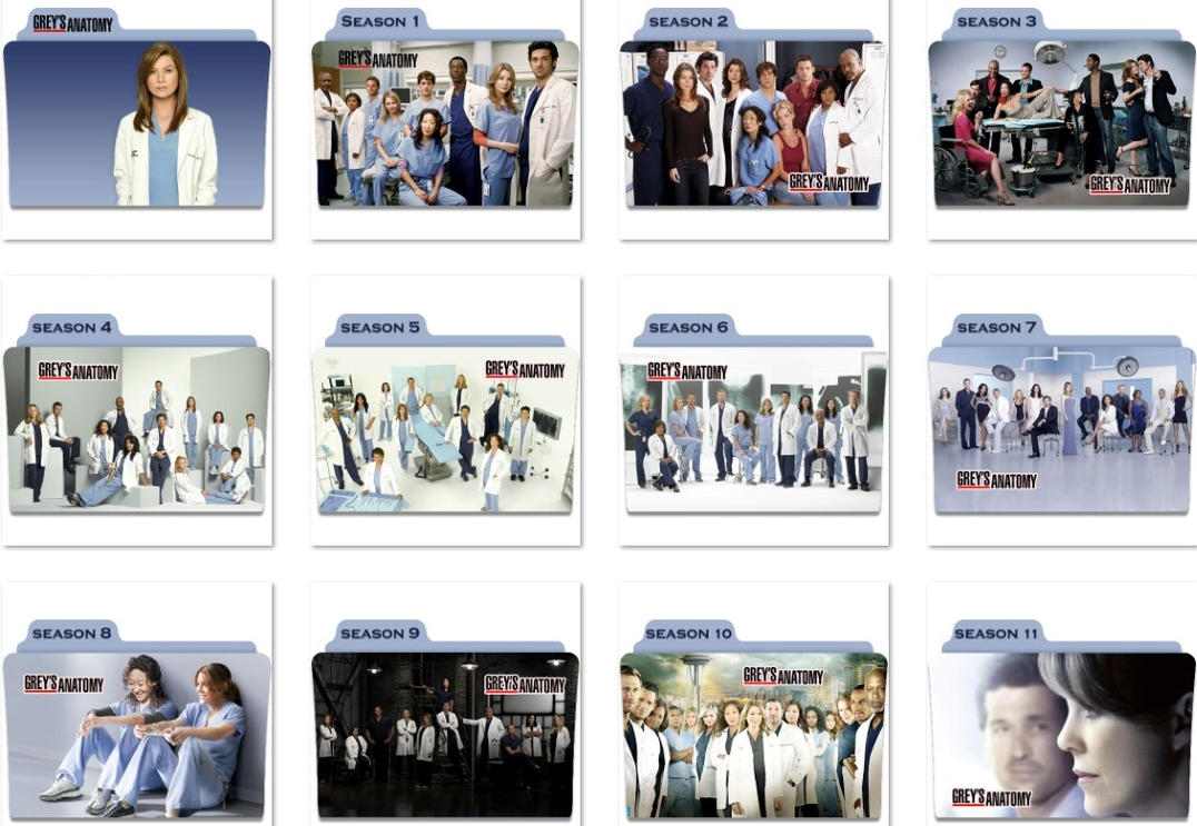 Grey\'s Anatomy Folder Icons by nellanel on DeviantArt