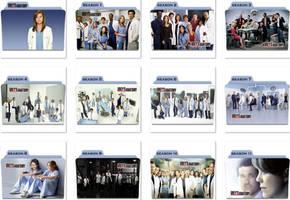 Grey's Anatomy Folder Icons by nellanel