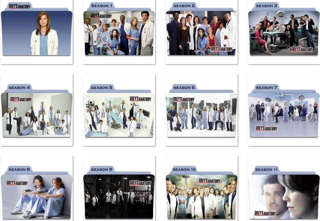 Grey\'s Anatomy Folder Icons by nellanel on DeviantArt