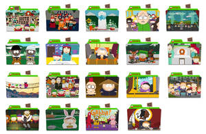 South Park Folder Icons by nellanel