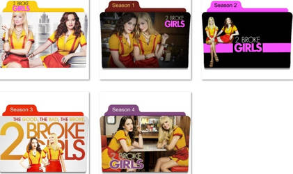 2 Broke Girls Folder Icons by nellanel