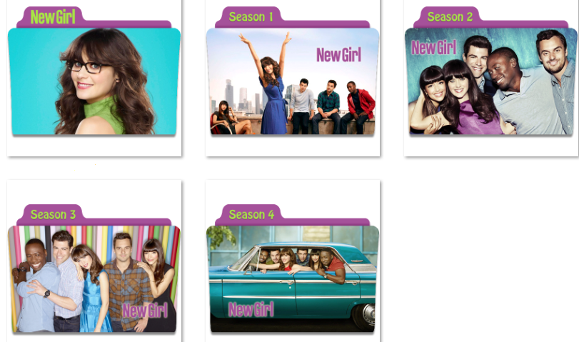 New Girl Folder Icons by nellanel