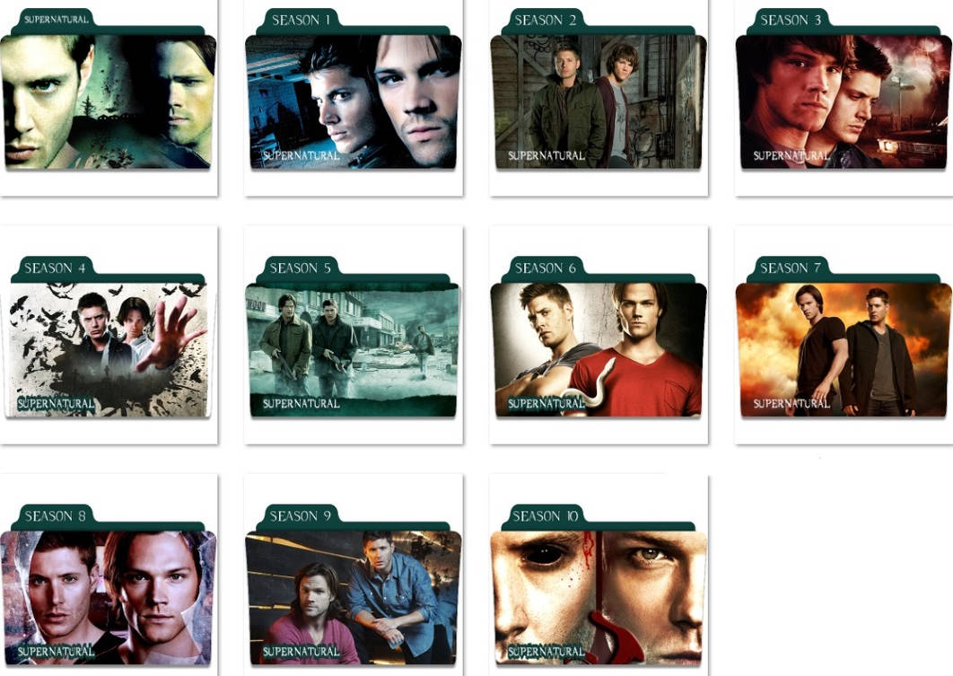 Supernatural Folder Icons by nellanel