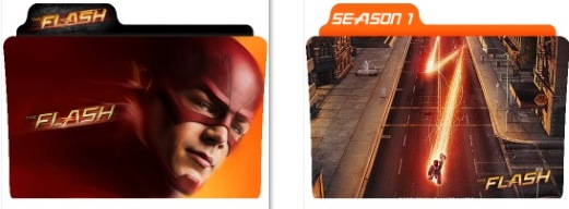 The Flash Folder Icons by nellanel