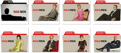 Mad Men Folder Icons by nellanel